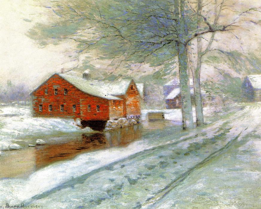 红色 磨, 布面油画 通过 Lowell Birge Harrison (1854-1929, United States)