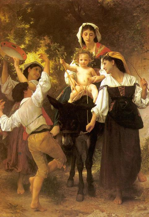 从收获返回, 1878 通过 William Adolphe Bouguereau (1825-1905, France) | 畫再現 | WahooArt.com