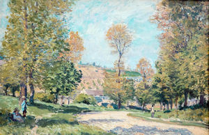 Alfred Sisley -  道路  louveciennes