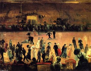 William James Glackens - 滚轴溜冰场