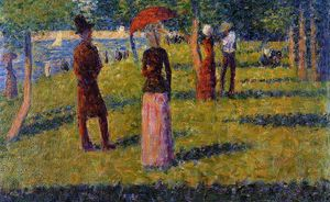 Georges Pierre Seurat - 的 Rope-Colored 短裙