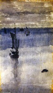 James Abbott Mcneill Whistler - 帆船 在 蓝色  水