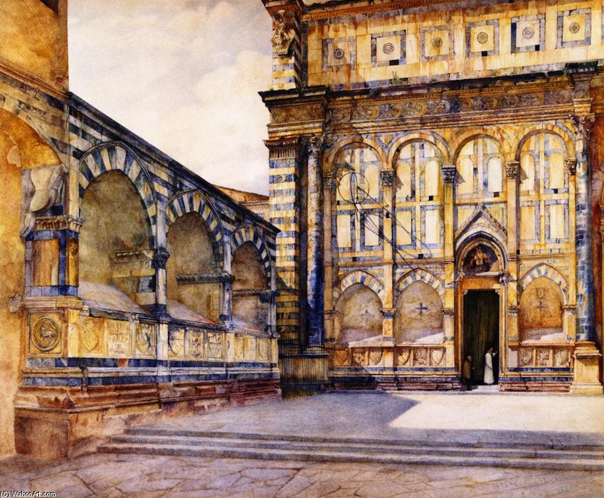 Santa Maria 中篇小说 , Florence , Italy, 1884 通过 Henry Roderick Newman (1833-1918, United States) | 手工畫 | WahooArt.com