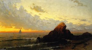 Alfred Thompson Bricher - 海景 日落