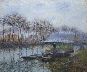 Gustave Loiseau - 塞纳河 端口 Marly