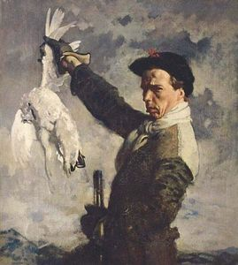 William Newenham Montague Orpen - 自画像() 的  死  鹧鸪