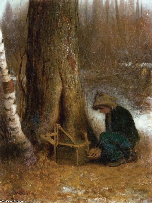 设置  的 陷阱 通过 Jonathan Eastman Johnson (1824-1906, United Kingdom) | 幀畫冊專輯 | WahooArt.com