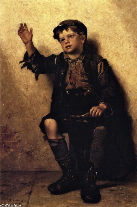 闪耀先生?, 油画 通过 John George Brown (1831-1913, United Kingdom)