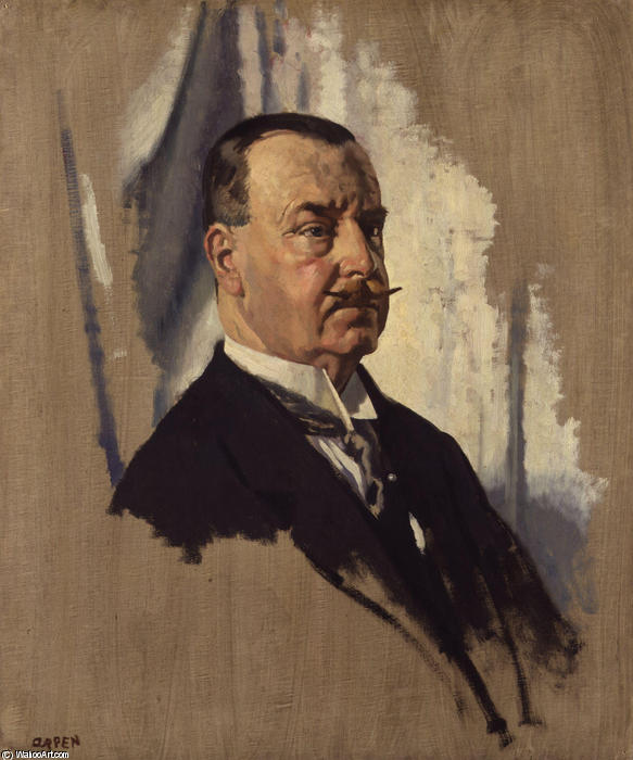 约瑟夫·乔治·沃德先生 通过 William Newenham Montague Orpen (1878-1931, Ireland)