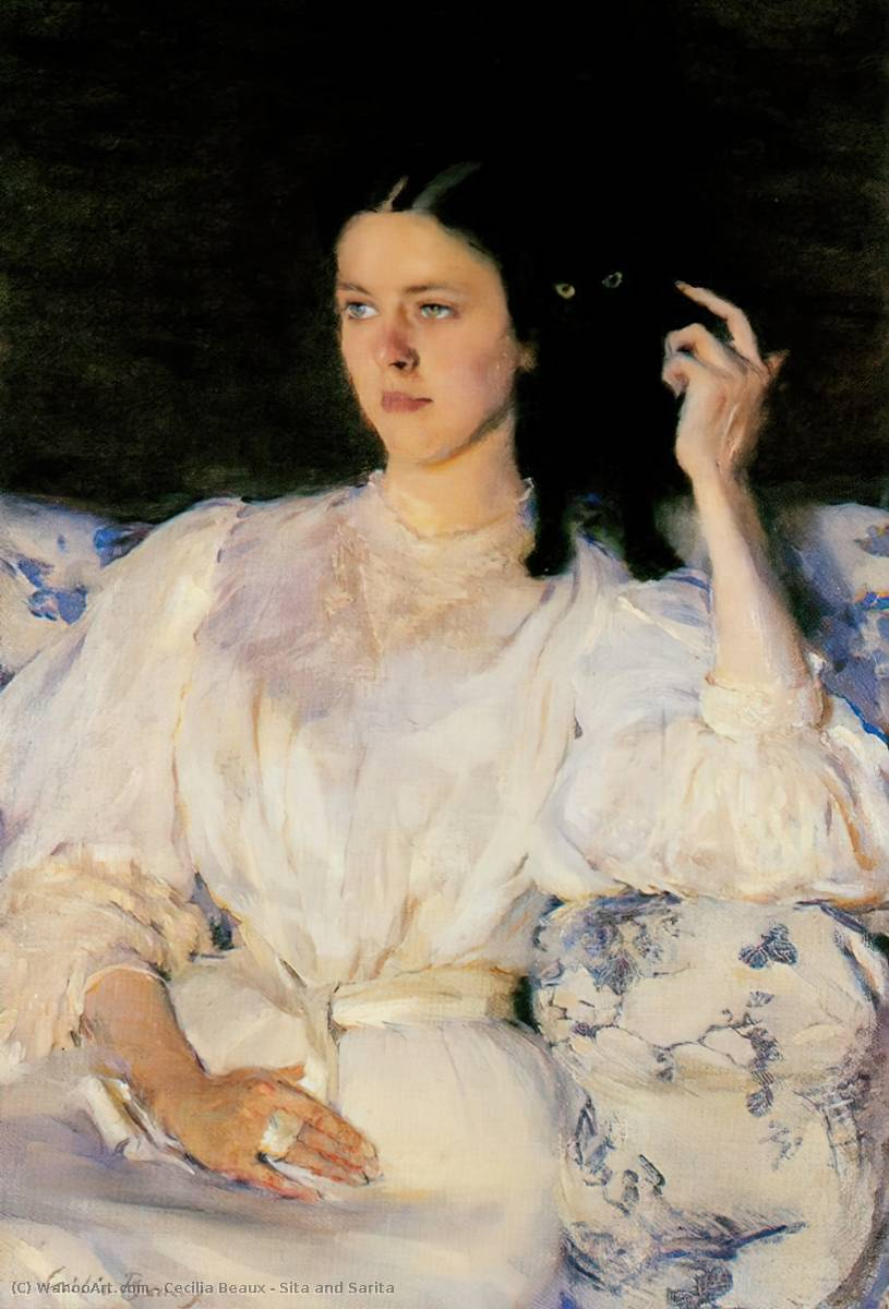 SITA和萨里塔, 油画 通过 Cecilia Beaux (1855-1942, United States)
