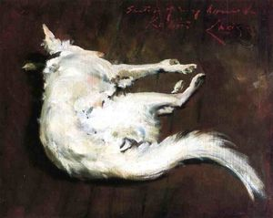William Merritt Chase - 一个 草图 我的 猎犬 Kuttie
