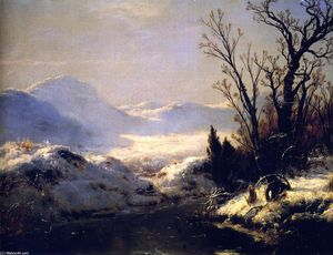 Louis Remy Mignot - 雪 场景
