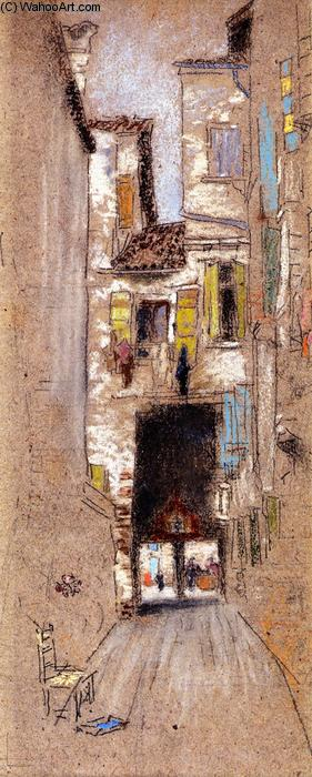 骑楼 - San Giacomo的, 1879 通过 James Abbott Mcneill Whistler (1834-1903, United States) | 傑作拷貝 | WahooArt.com
