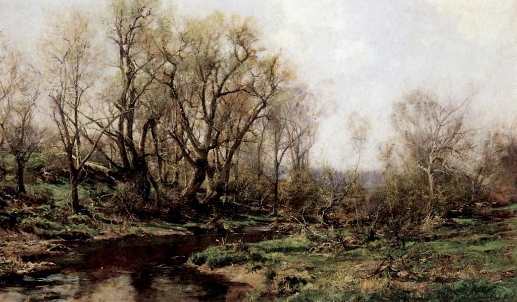 顺序 畫再現 : 春天 风景 通过 Hugh Bolton Jones (1848-1927) | WahooArt.com