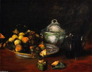 William Merritt Chase - 静物 水果
