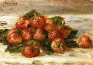 Pierre-Auguste Renoir - 静物  与 `strawberries`