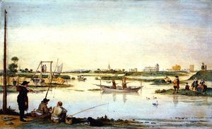 Hendrick Avercamp - 夏天的风景