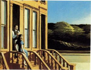 Edward Hopper - 阳光 赤褐色砂石上