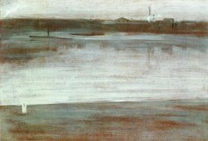 James Abbott Mcneill Whistler - 交响乐 在  灰色   早期  上午  泰晤士