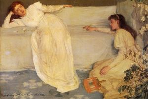 James Abbott Mcneill Whistler - `symphony` 在  白,  没有. 3