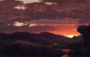 "Frederic Edwin Church - 暮光之城,""包青天短变成往返日夜"""