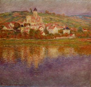 Claude Monet - Vetheuil,粉红的影响