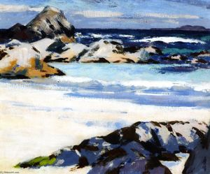 Francis Campbell Boileau Cadell - A查看Iona的展望伦加