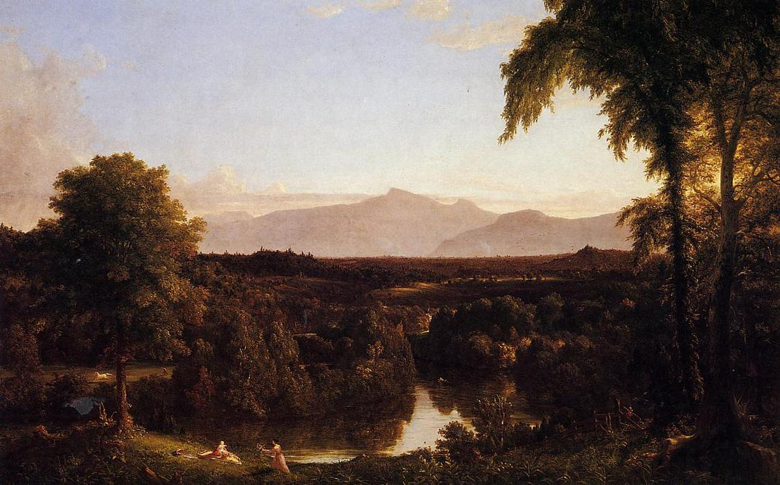 查看 卡茨基尔 ,  早期 Autunm, 1837 通过 Thomas Cole (1801-1848, United Kingdom) | 藝術再現 Thomas Cole | WahooArt.com