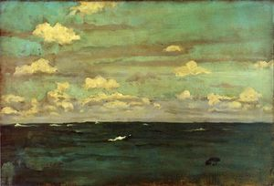James Abbott Mcneill Whistler - 紫罗兰和Siilver:深海