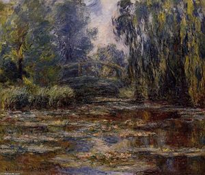 Claude Monet - 的 Water-Lily 池塘 和桥