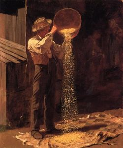 Jonathan Eastman Johnson - 簸粮食