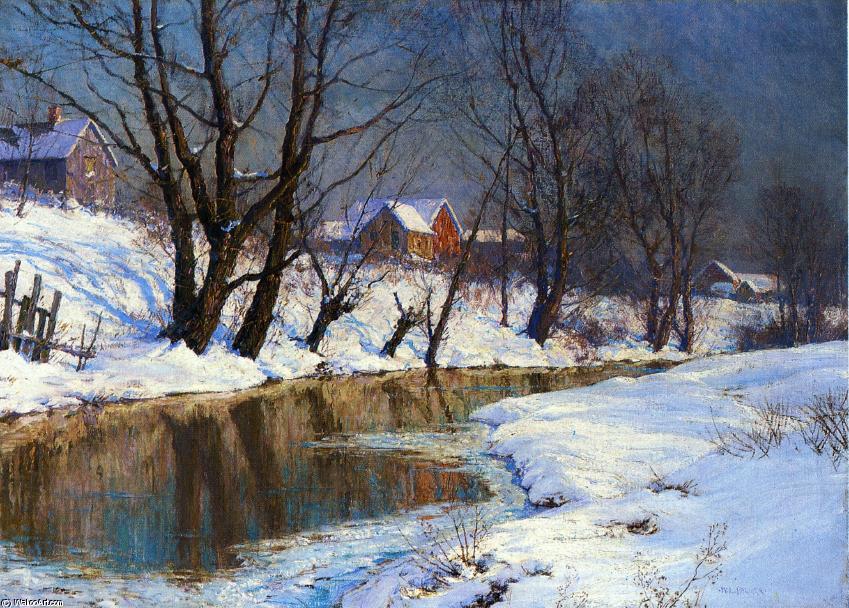 冬天图片冬天雪花飘落背景图 冬天大自然风景图片 图片