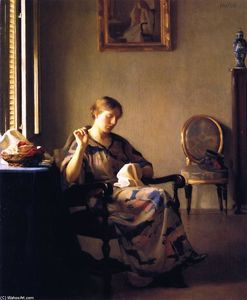 William Macgregor Paxton - 女缝纫