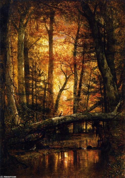 阿育王伍兹, 1868 通过 Thomas Worthington Whittredge (1820-1910, United States) | 畫再現 | WahooArt.com