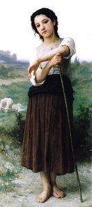 William Adolphe Bouguereau - 年轻常委牧羊女