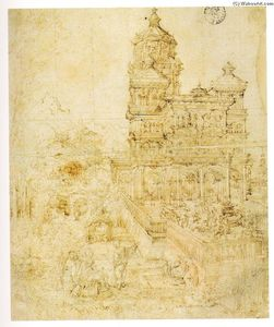 Albrecht Altdorfer - Overall sketch 的 the picture Susanna and 长老