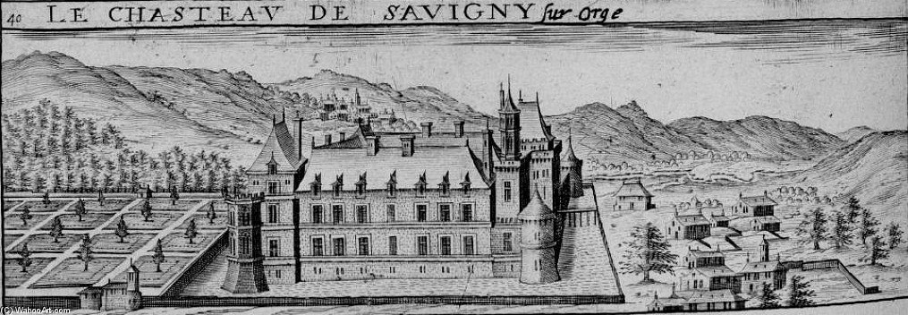 酒庄 德 Savigny-sur-orge 通过 Claude Chastillon (1559-1616, France)