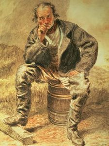 William Henry Hunt - 一个 Oysterman ,