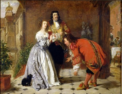 从现场 Moliere's 'the Would-be Gentleman' , 通过 William Powell Frith (1819-1909, United Kingdom)