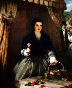 William Powell Frith - 该花卖方 -