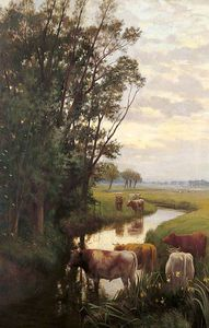 William Sidney Cooper - 晚上 Sturry