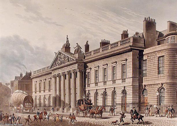 东印度 房子 Leadenhall 街道 通过 Thomas Hosmer Shepherd (1792-1864, United Kingdom) | WahooArt.com