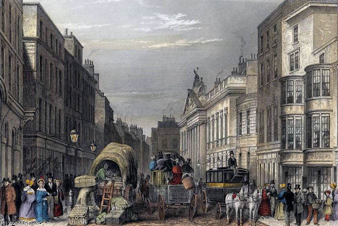 利德贺街ĵ 霍普金斯  通过 Thomas Hosmer Shepherd (1792-1864, United Kingdom)