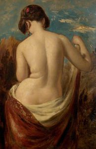 William Etty - 研究 Half-nude 数字