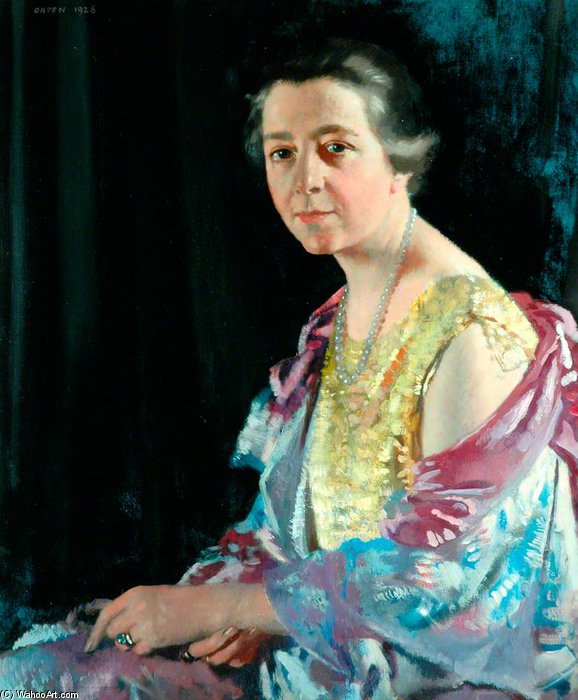 托马斯夫人豪沃思 通过 William Newenham Montague Orpen (1878-1931, Ireland) | 幀打印 | WahooArt.com