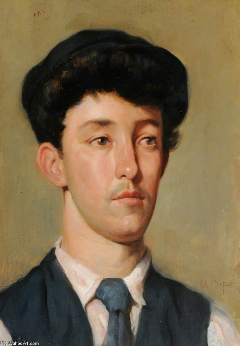 肖像  青年 通过 William Newenham Montague Orpen (1878-1931, Ireland) | 手工畫 | WahooArt.com