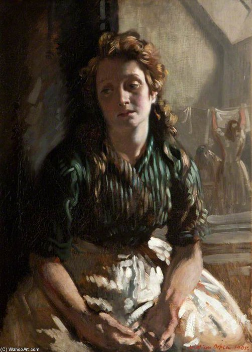 休息 通过 William Newenham Montague Orpen (1878-1931, Ireland)