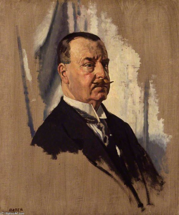 先生 约瑟夫 乔治 病房 , 1st Bt 通过 William Newenham Montague Orpen (1878-1931, Ireland)