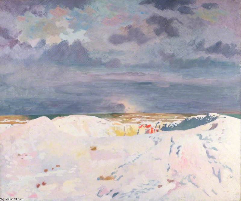伟大的 矿山 , 啦 Boisselle 通过 William Newenham Montague Orpen (1878-1931, Ireland)