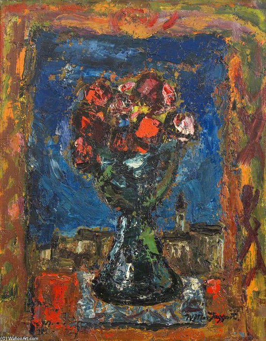 花儿  在 花瓶 通过 William Mactaggart (1903-1981, United Kingdom) |  | WahooArt.com